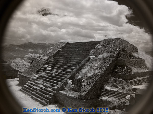 Monte Alban Oaxaca in Infrared IR