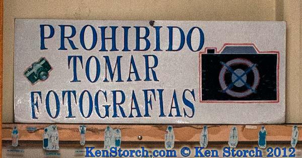 Forbidden - Prohibido Tomar Fotografias - No Photography